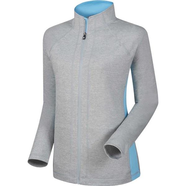 フットジョイ レディース ジャケット&ブルゾン アウター FootJoy Women's Full-Zip Performance Mid Layer Golf Jacket HeatherGrey/Sky