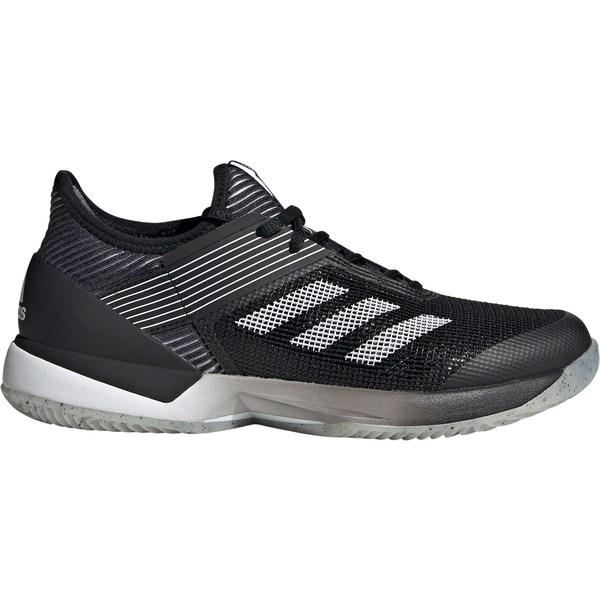 アディダス レディース テニス スポーツ adidas Women's Ubersonic 3.0 Clay Tennis Shoes Black/Grey