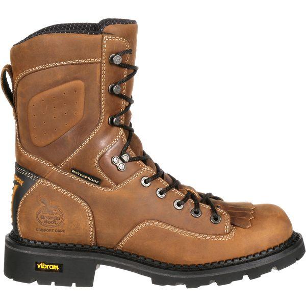 ジョージアブーツ メンズ ブーツ&レインブーツ シューズ Georgia Boot Men's ComfortCore Logger EH Waterproof Composite Toe Work Boots Brown