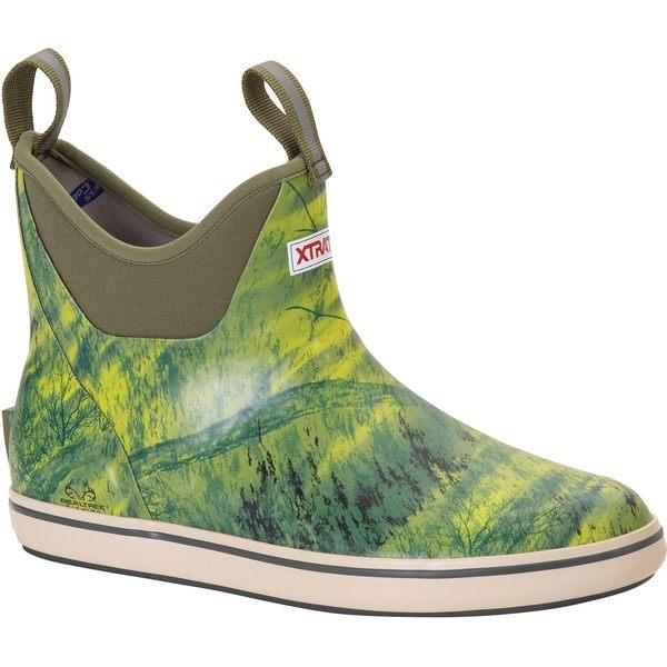 エクストラタフ メンズ ブーツ&レインブーツ シューズ XTRATUF Men's 6'' Realtree Waterproof Deck Boots Camo