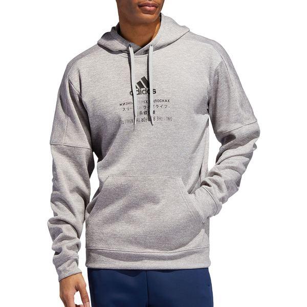 アディダス メンズ パーカー・スウェットシャツ アウター adidas Men's Team Issue Training Graphic Hoodie FLGreyTwoMEL