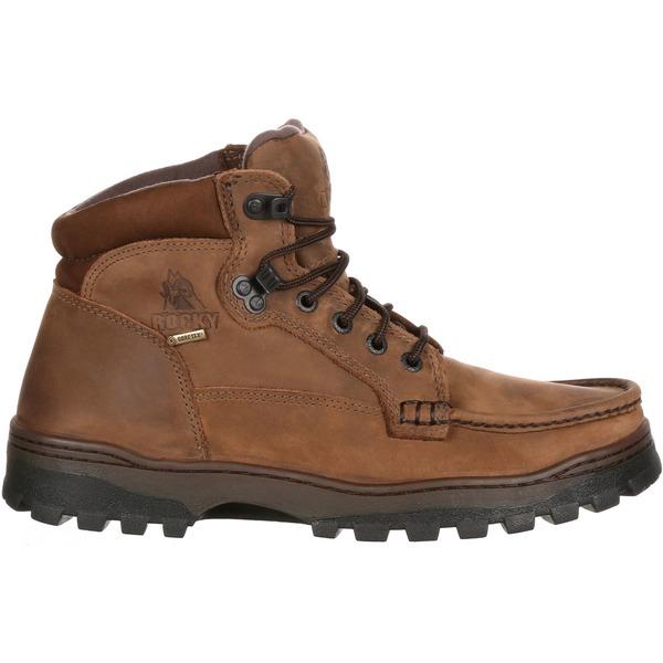 """ロッキー メンズ ブーツ&レインブーツ シューズ Rocky Men's Outback Hiker 5"""" GORE-TEX Hiking Boots Brown"""