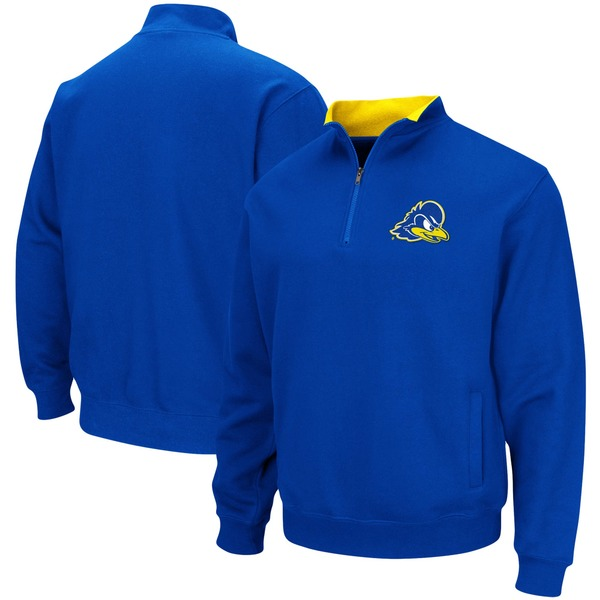 コロシアム メンズ ジャケット&ブルゾン アウター Delaware Fightin' Blue Hens Colosseum Tortugas Logo QuarterZip Pullover Jacket Royal