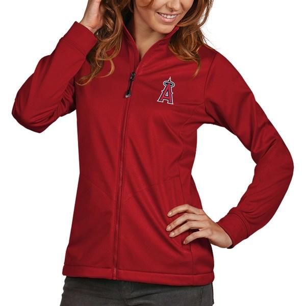 アンティグア レディース ジャケット&ブルゾン アウター Los Angeles Angels Antigua Women's Golf FullZip Jacket Red