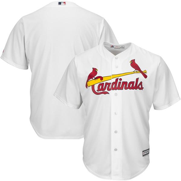マジェスティック メンズ ユニフォーム トップス St. Louis Cardinals Majestic Big & Tall Cool Base Team Jersey White