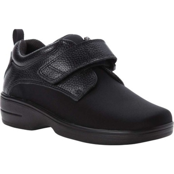 プロペット レディース スニーカー シューズ Opal Hook and Loop Strap Sneaker Black Leather/Neoprene