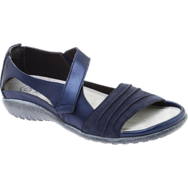 ナオト レディース サンダル シューズ Papaki Sandal Navy Velvet/Nubuck Leather/Polar Leather