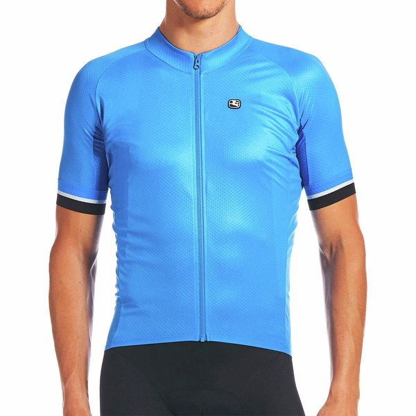 ジョルダーノ メンズ サイクリング スポーツ SilverLine Classic Short-Sleeve Jersey - Men's Bright Blue