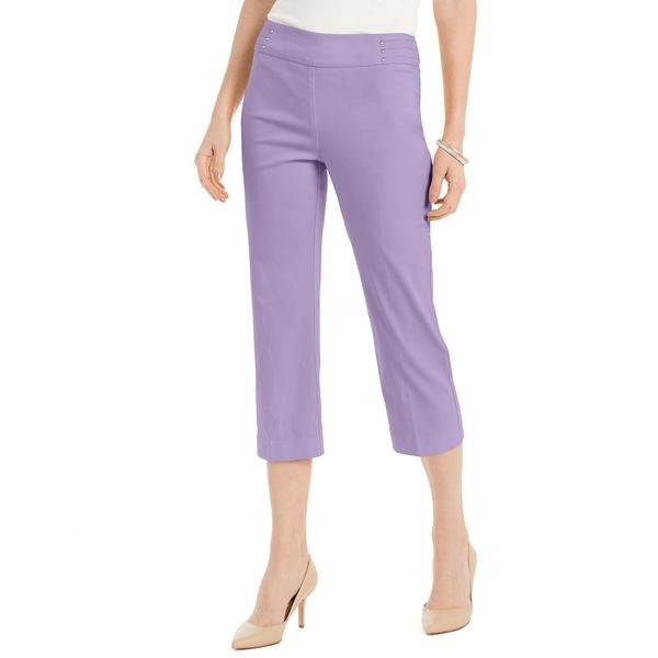 福袋 ジェイエムコレクション レディース カジュアルパンツ ボトムス Embellished Pull-On Capri Pants, Purple Amethyst, 会計そふとProShop 9916e887
