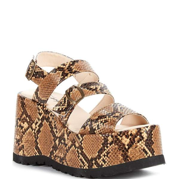 フリーピープル レディース サンダル シューズ Chelsea Strappy Platform Sandals Brown Snake