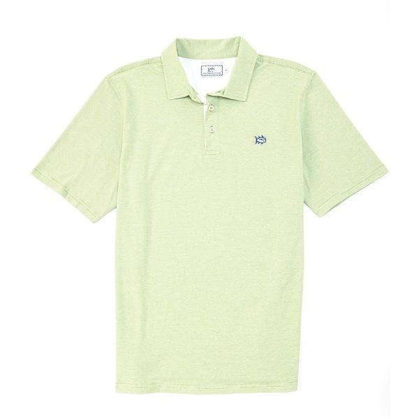 サウザーンタイド メンズ ポロシャツ トップス Channel Marker Stripe Short-Sleeve Polo Shirt Green Tea