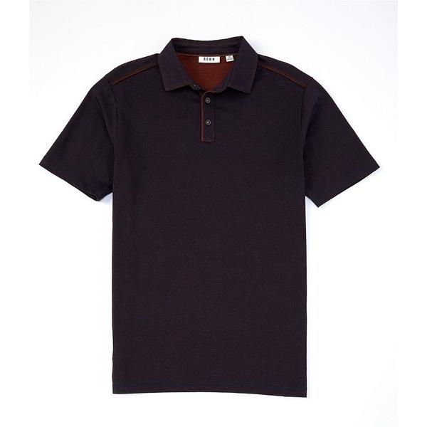 ロウン メンズ ポロシャツ トップス Short-Sleeve Solid Slub Polo Dark Navy
