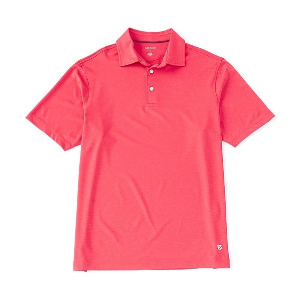 クレミュ メンズ ポロシャツ トップス Performance Solid Heather Short-Sleeve Polo Shirt Lollipop