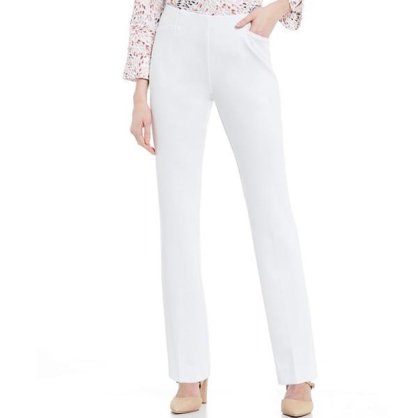 インベストメンツ レディース カジュアルパンツ ボトムス Petite Size the REGENT fit Pull-On Straight Leg Pants White