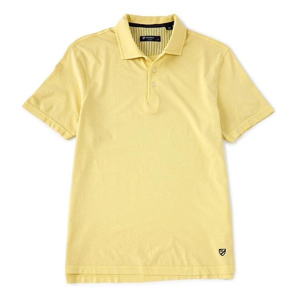 クレミュ メンズ ポロシャツ トップス Solid Garment Dyed Short-Sleeve Polo Shirt Ludlow Yellow