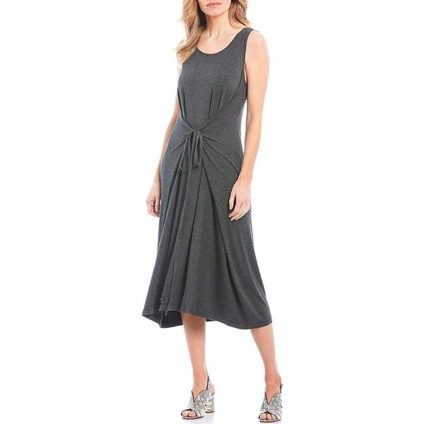 ブリンウォーカー レディース ワンピース トップス Mini Stripe Tie Waist Sleeveless Midi Dress Grey
