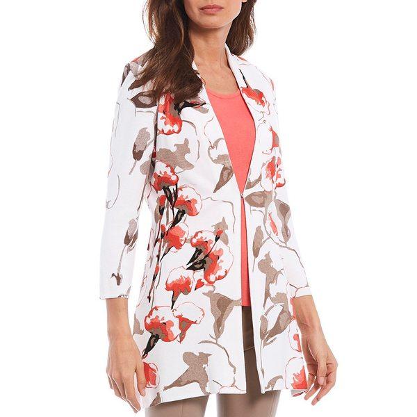 ミソーク レディース ジャケット&ブルゾン アウター Long Sleeve Painted Floral Print Jacket White