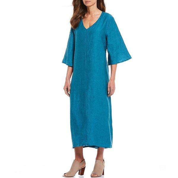 ブリンウォーカー レディース ワンピース トップス Liliana Cross Dyed 3/4 Sleeve Linen Shift Dress Napoli