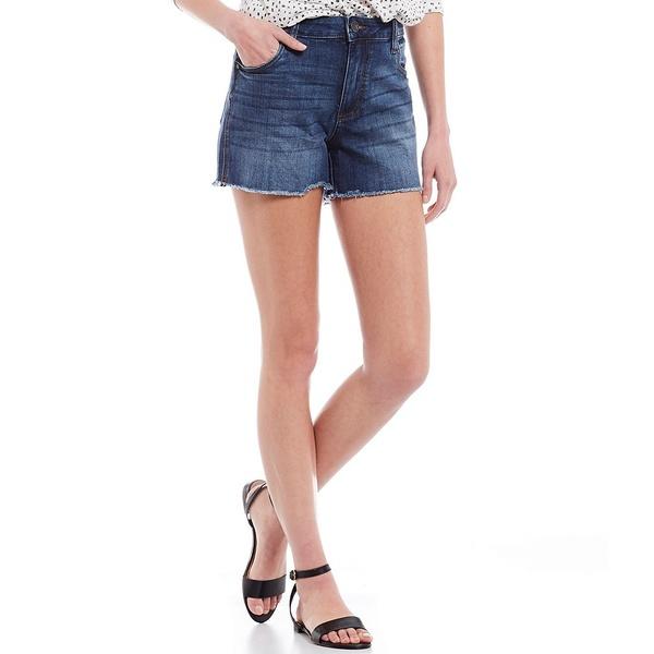 カットフロムザクロス レディース カジュアルパンツ ボトムス Gidget High Rise Fray Hem Shorts Affectionate