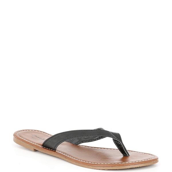 アンナ&アヴァ レディース サンダル シューズ Wide Strap Flip Flop Sandals Black