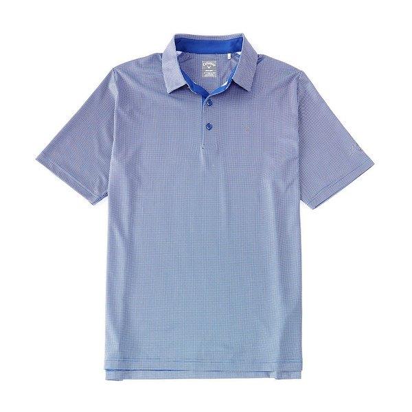 キャラウェイ メンズ シャツ トップス Golf Short-Sleeve Gingham Polo Surf The Web