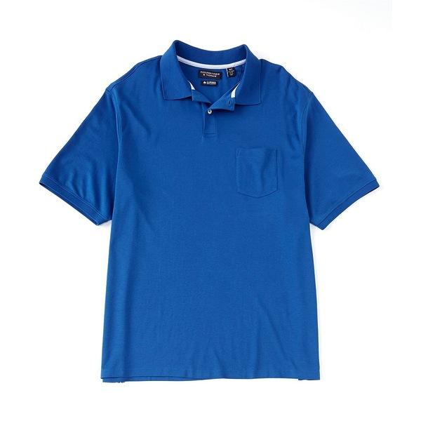 ランドツリーアンドヨーク メンズ シャツ トップス Big & Tall Short-Sleeve Supima Solid Polo True Blue