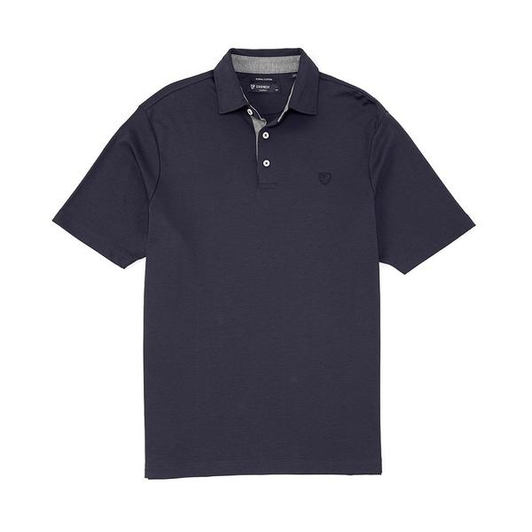 クレミュ メンズ ポロシャツ トップス Supima Cotton Solid Short-Sleeve Polo Shirt Peacoat Blue