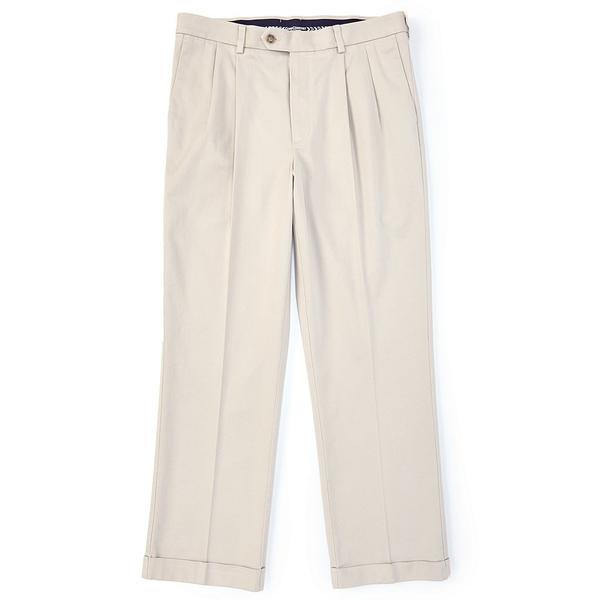 ランドツリーアンドヨーク メンズ カジュアルパンツ ボトムス TravelSmart CoreComfort Big & Tall Pleated Classic Relaxed Fit Chino Pants Stone