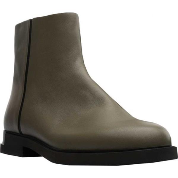 カンペール レディース ブーツ&レインブーツ シューズ Twins Flat Ankle Bootie Grey Green Sheepskin/Calfskin