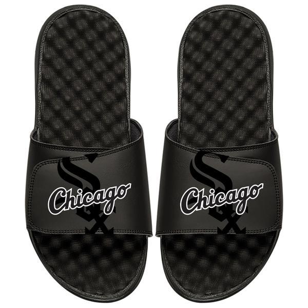 アイスライド メンズ サンダル シューズ Chicago White Sox ISlide MLB Tonal Pop Slide Sandals Black