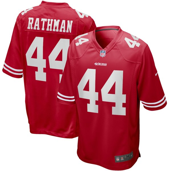 ナイキ メンズ ユニフォーム トップス Tom Rathman San Francisco 49ers Nike Game Retired Player Jersey Scarlet