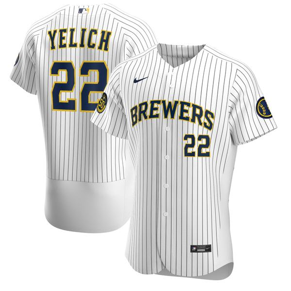 ナイキ メンズ ユニフォーム トップス Christian Yelich Milwaukee Brewers Nike Road 2020 Authentic Player Jersey Gray
