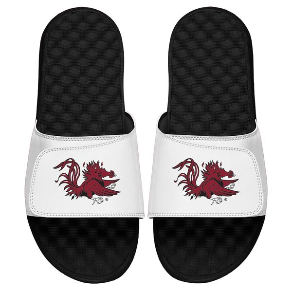 アイスライド メンズ サンダル シューズ South Carolina Gamecocks ISlide Secondary Logo Slide Sandals White