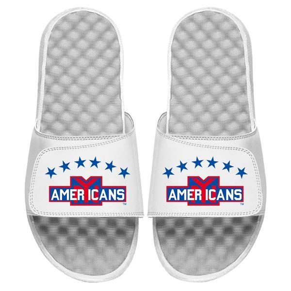 アイスライド メンズ サンダル シューズ New York Americans ISlide Vintage Logo Slide Sandals White