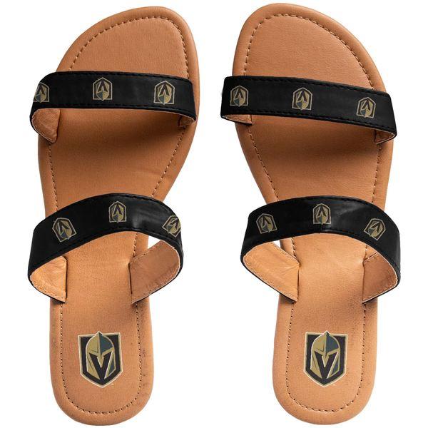 フォコ レディース サンダル シューズ Vegas Golden Knights Women's Double Strap Sandals