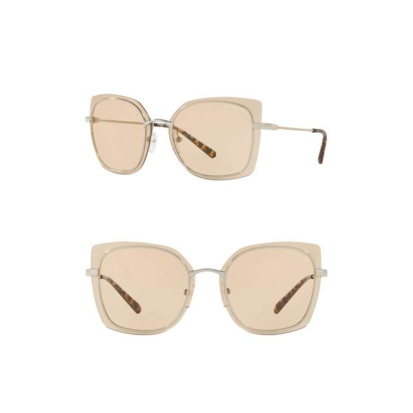 マイケルコース セットアップ レディース アクセサリー サングラス アイウェア SHINY 2020新作 62mm Square Sunglasses SILVER 全商品無料サイズ交換