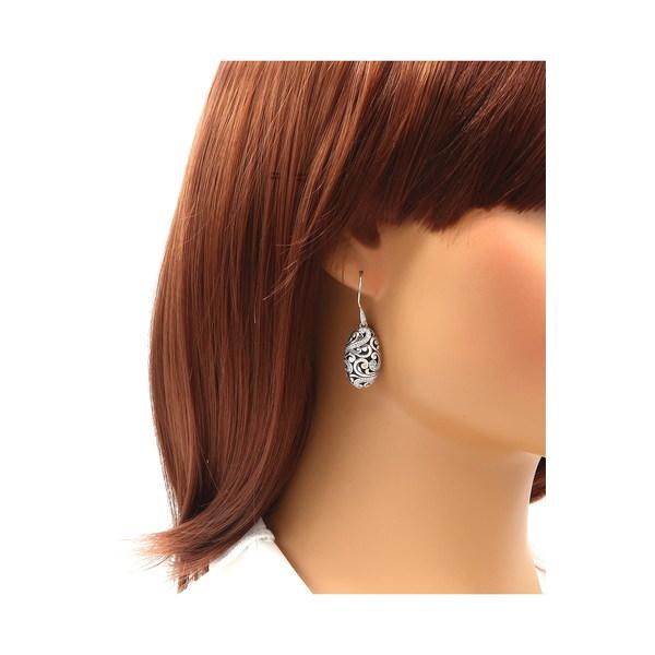 デヴァタ レディース アクセサリー 安心の実績 高価 買取 強化中 ピアス イヤリング SILVER WHITE Oval Drop CZ Sterling 激安通販販売 Earrings 全商品無料サイズ交換 Silver