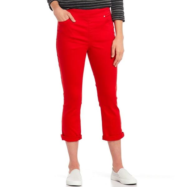ウェストボンド レディース カジュアルパンツ ボトムス Petite Size the HIGH RISE fit Crop Pant Mars Red