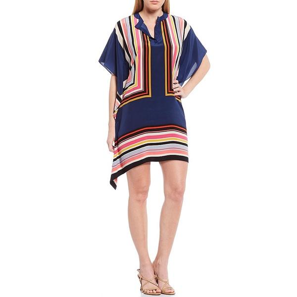 トリーナターク レディース ワンピース トップス Theodora Silk Caftan Stripe Dress Multi