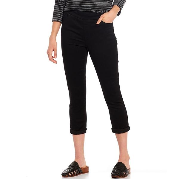 ウェストボンド レディース カジュアルパンツ ボトムス Petite Size the HIGH RISE fit Crop Pants Black
