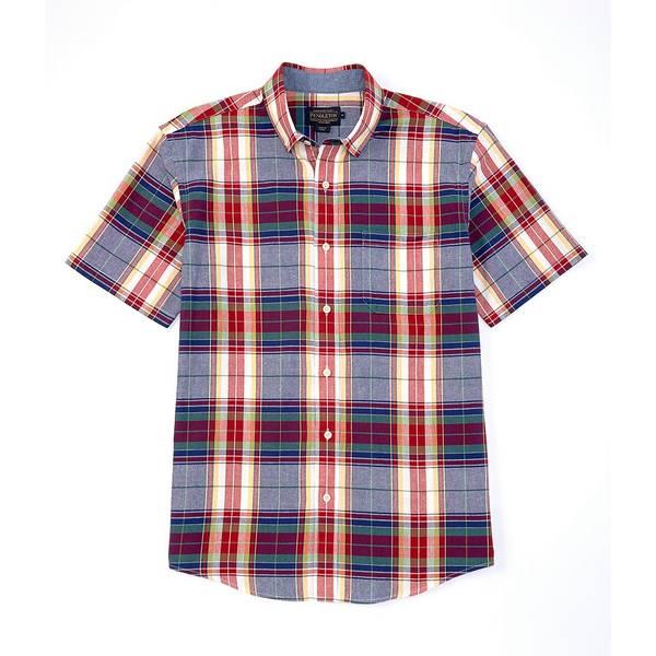 ペンドルトン メンズ シャツ トップス Madras Short-Sleeve Woven Shirt Blue/Red Multi Plaid