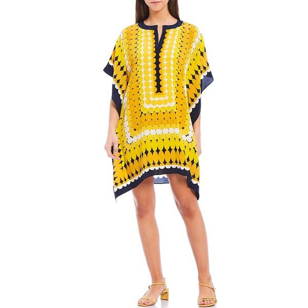 トリーナターク レディース ワンピース トップス Theodora Circle Printed Silk Caftan Dress Mimosa
