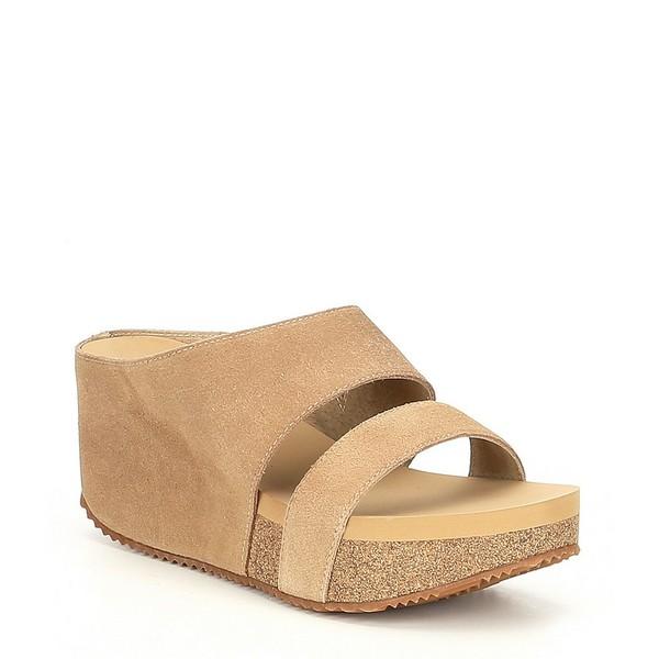 ボラティル レディース サンダル シューズ August Suede Leather Wedge Sandals Sand