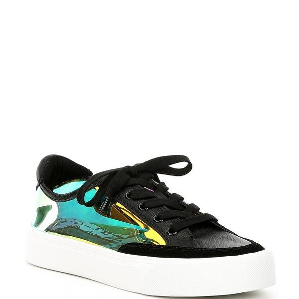 ダナ キャラン ニューヨーク レディース スニーカー シューズ Ressi Clear and Leather Lace Up Flatform Sneakers Multi