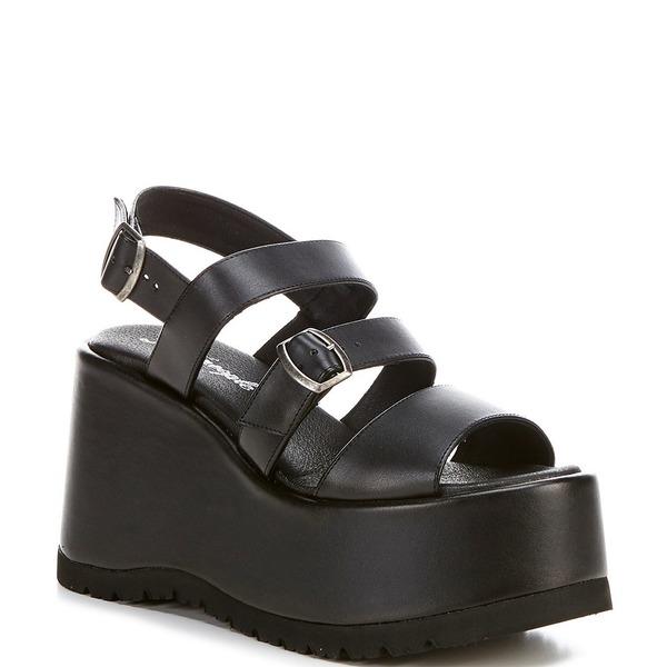 フリーピープル レディース サンダル シューズ Chelsea Strappy Platform Sandals Black