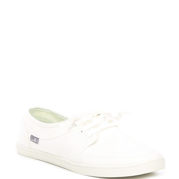 サヌーク レディース スニーカー シューズ Pair O Dice Lace Washed Canvas Sneakers White