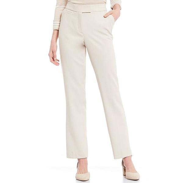 インベストメンツ レディース カジュアルパンツ ボトムス Petite Size the 5TH AVE fit Straight Leg Pant Heather Sand