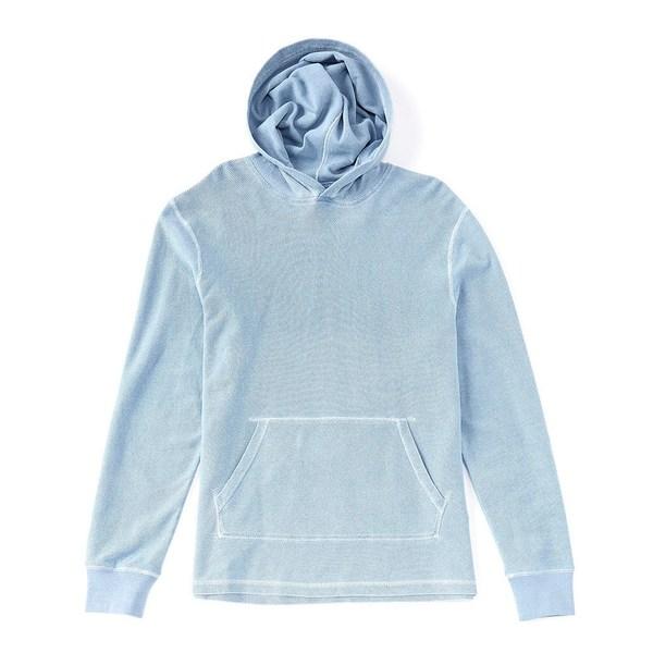 サウザーンタイド メンズ Tシャツ トップス Baja Chambray Long-Sleeve Hoodie Ash Blue