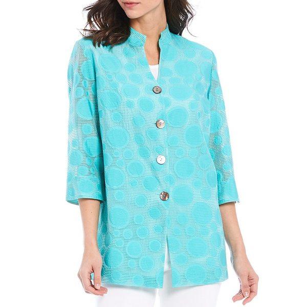 ミンウォン レディース ジャケット&ブルゾン アウター 3/4 Sleeve Polka Dot Woven Jacket Mint