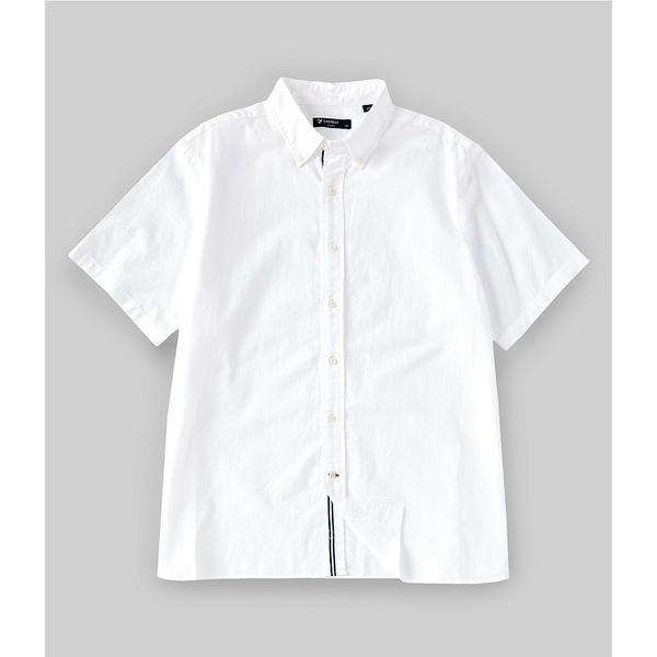 クレミュ メンズ シャツ トップス Solid Short-Sleeve Linen Woven Shirt White